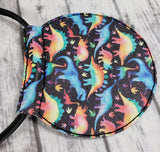 Rainbow Dinosaur Vinyl Mouse Ears/Headband