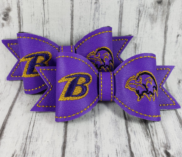 Baltimore Ravens Small Hair Bow - Kool Catz Stuff