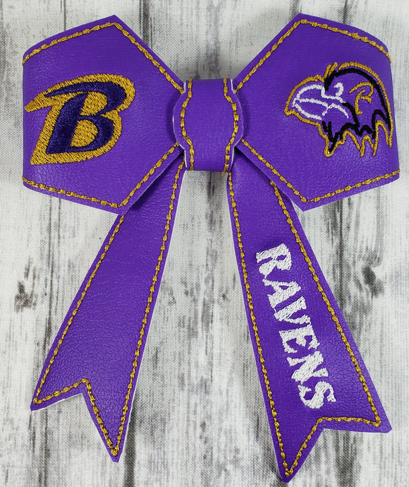 Baltimore Ravens Large Hair Bow - Kool Catz Stuff
