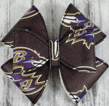 Baltimore Ravens 6 Loop Hair Bow - Kool Catz Stuff