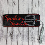 Dr. Who Spoiler's Sweetie Bookmark