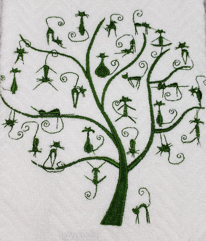 Cat Tree of Life Towel