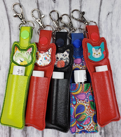 Cat Applique Lip Balm Holder - Kool Catz Stuff
