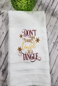 Don't Get Your Tinsel in a Tangle Hand Towel Design