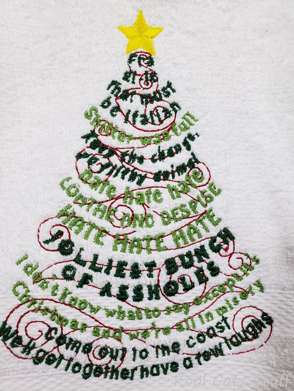 Christmas Sarcasm Tree Towel