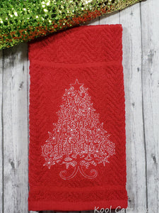 We Wish You a Merry Christmas Tree Towel