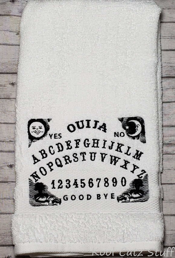 Ouija Board Hand Towel Design