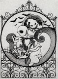 Jack & Sally Skellington at the Gates Towel