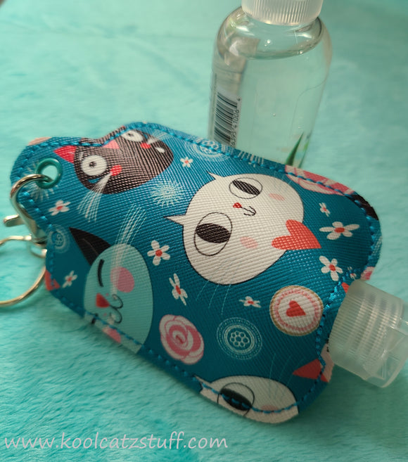 Cat Vinyl Hand Sanitizer Holder