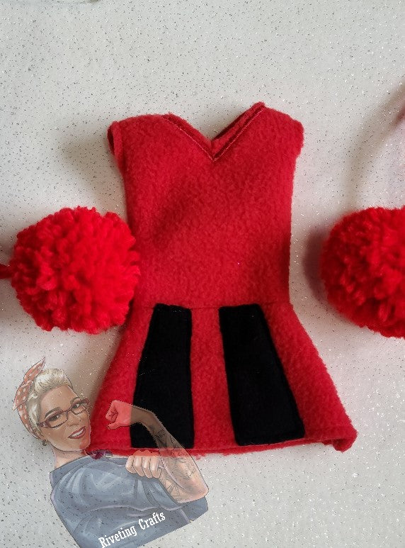 Cheerleader Elf/Doll Clothing