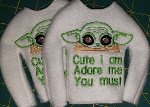Baby Yoda Elf Sweater/Shirt - Kool Catz Stuff