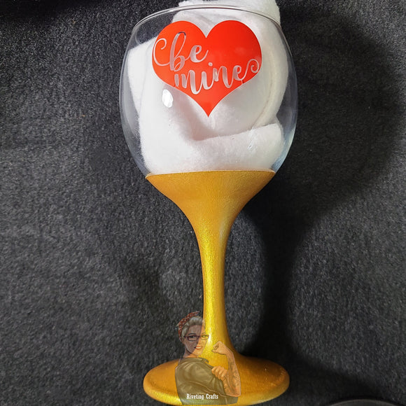 Be Mine Valentine's Day Glassware