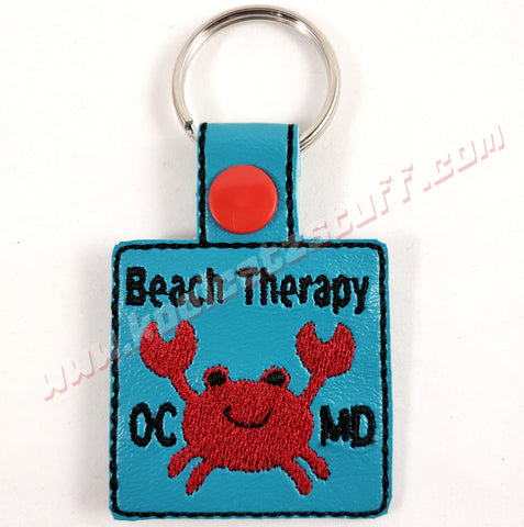 Beach Therapy Keychain