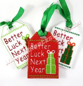 Better Luck Next Year Gift Tag - Kool Catz Stuff