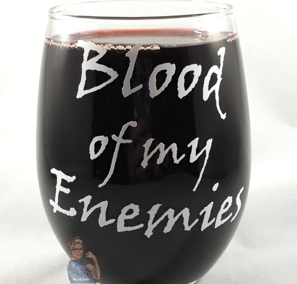 Blood of My Enemies Glass or Mug - Kool Catz Stuff