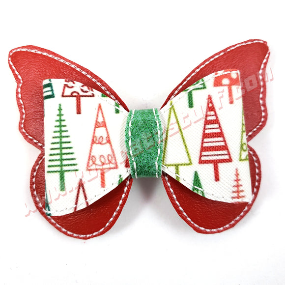 Butterfly Christmas Hair Bow - Kool Catz Stuff