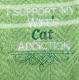 Cat Addiction Towel