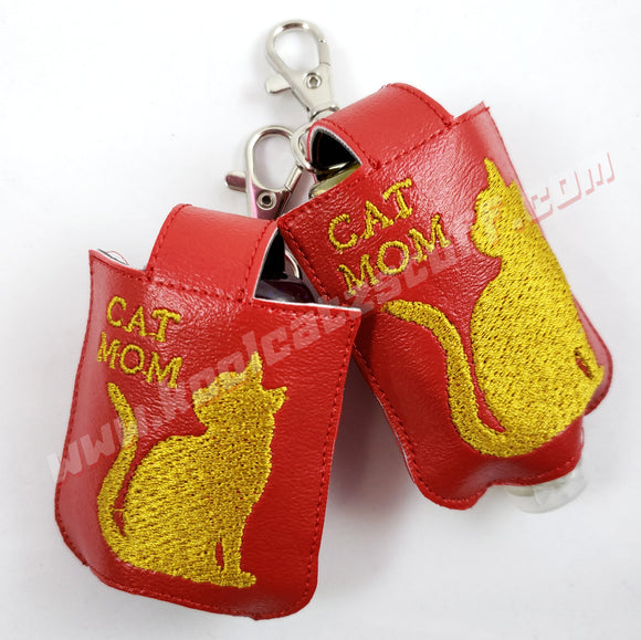 Cat Mom 1 ounce Hand Sanitizer Holder - Kool Catz Stuff