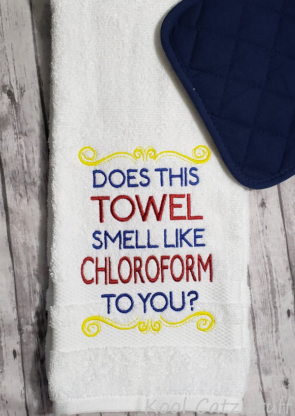 Chloroform Hand Towel Design