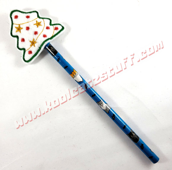 Christmas Tree Pencil Topper - Kool Catz Stuff