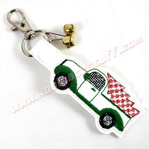 Christmas Truck & Tree Keychain