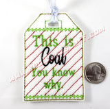 This is Coal, You Know Why Gift Tag