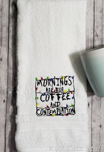 Stranger Things Coffee and Contemplation Towel