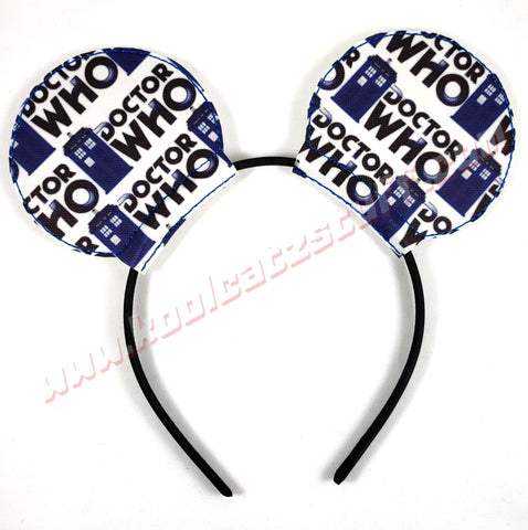 Dr. Who Mouse Ears/Headband - Kool Catz Stuff