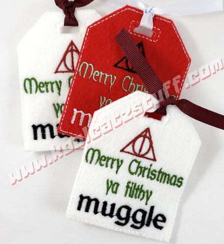 Filthy Muggle Gift Tag