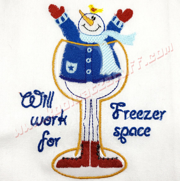 Snowman Freezer Space Design - Kool Catz Stuff