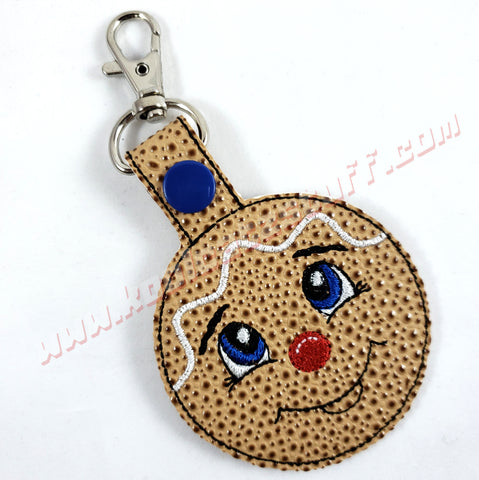 Gingerbread Cookie Keychain