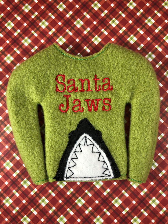 Santa Jaws Elf Shirt - Kool Catz Stuff