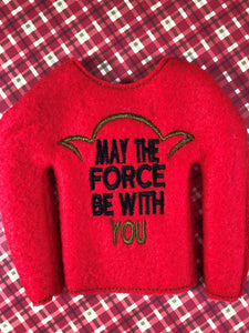 May the Force Elf Shirt - Kool Catz Stuff