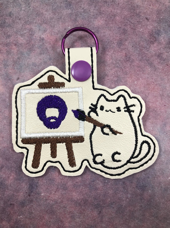 Happy Bob & Pusheen Kitty Keychain - Kool Catz Stuff