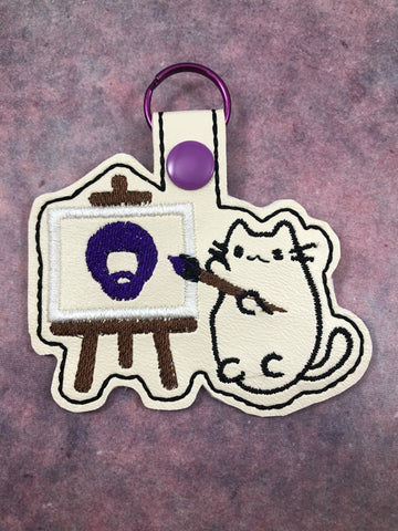 Happy Bob & Plush Kitty Keychain