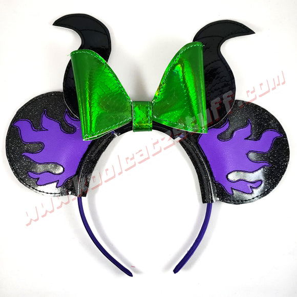Maleficent Mouse Ears/Headband - Kool Catz Stuff