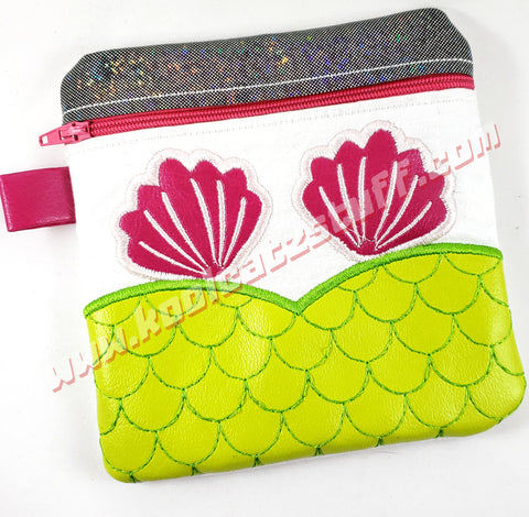 Mermaid Lined Wristlet/Zipper Bag - Kool Catz Stuff