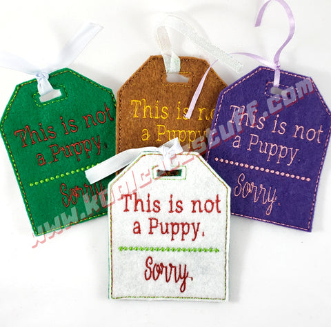 This is Not A Puppy Gift Tag