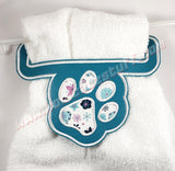 Paw Print Towel Holder - Kool Catz Stuff