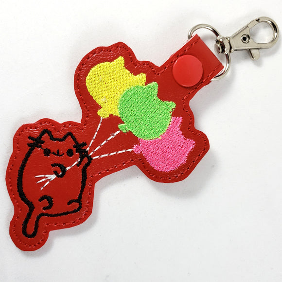 Pusheen Cat Balloon Keychain - Kool Catz Stuff