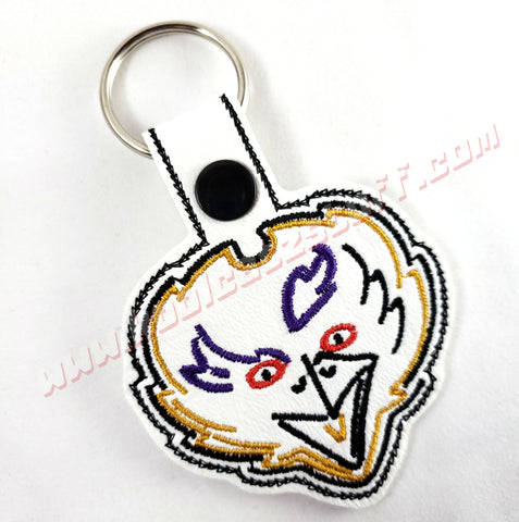 Baltimore Ravens Front View Raven Head Keychain