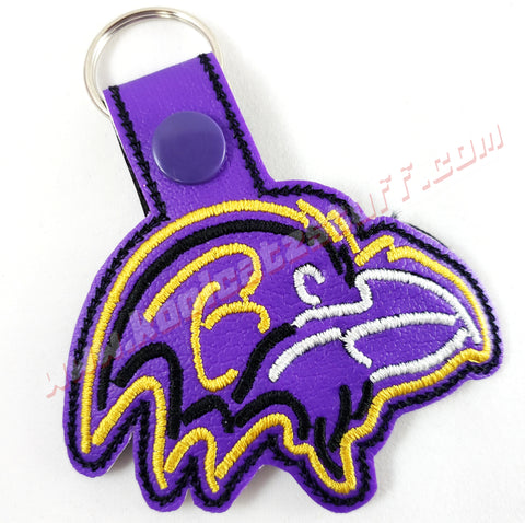 Baltimore Ravens Side View Raven Head Keychain