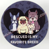 Rescued Is My Favorite Breed Phone Holder/Stand - Kool Catz Stuff