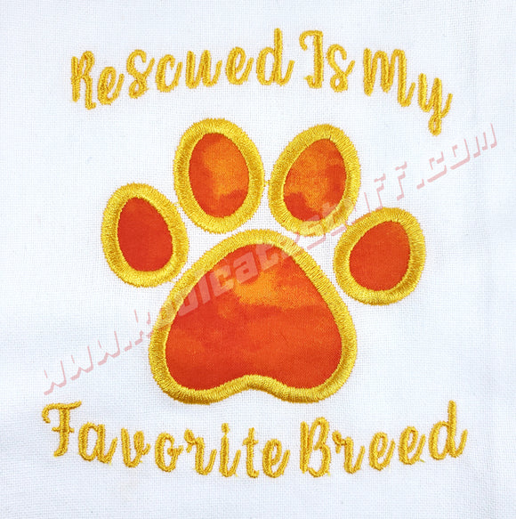 Rescued Is My Favorite Breed Design - Kool Catz Stuff