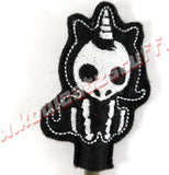 Unicorn Skeleton Pencil Topper - Kool Catz Stuff