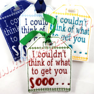 I Couldn't Think Of What To Get You Gift Tag - Kool Catz Stuff