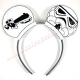 Storm Trooper Mouse Ears/Headband - Kool Catz Stuff