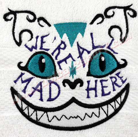 We're All Mad Here Cheshire Cat Towel