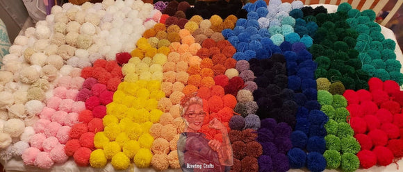 "Large Handmade 3"" Pom-Poms - Single or Garland - Super Thick"