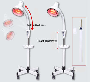 GL Lighting Red LED Light Therapy Deep Red and Near-Infrared (670nm+850nm, PAR38 12W Floor Lamp)